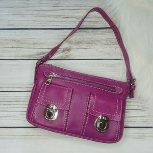 MARC JACOBS BERRY PURPLE LEATHER SMALL SHOULDER